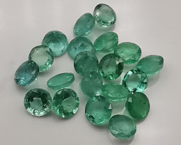 Emeralds: 4.2ct, Zambian brilliant cut stones of similar size!