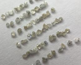 0.18 Ct 65 x Flawless|Si N|Z Rough Diamond Micro Crystals