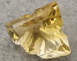 Citrine, 2.84ct, unique cut, beautiful stone.