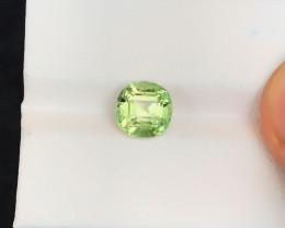 HGTL CERTFIED 1.92 Ct Natural Green Transparent Tourmaline Gemstone