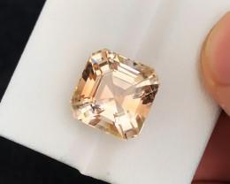 HGTL CERTIFIED10.83 Ct Natural Light Brown Transparent Topaz Gemstone