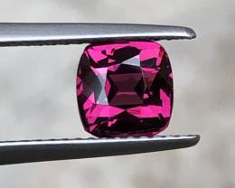 ~NO RESERVE~Certified 1.97 Carats Natural Purple Rhodolite Garnet  Gems