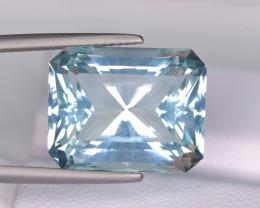 GFCO- Flawless 15.60 Carat Aquamarine Step Brilliant Cut Gemstone@PAK