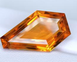 Flawless 19.94 Carat Precision Master Cut Citrine Gemstone