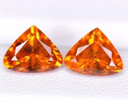 6.19 Ct Pairs Mandarin Spessartite Garnet Brilliant Cut Gemstone