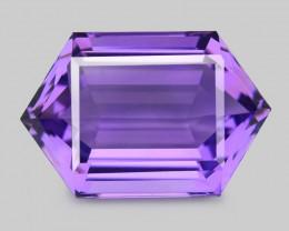 Amethyst 11.14 Cts European Cut Natural Purple Color Gemstone
