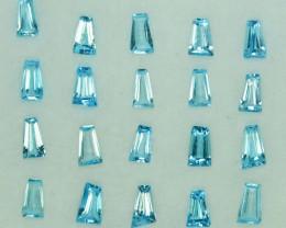 1.78 Cts Natural Sky Blue Topaz Fancy Tapered Cut Parcel Brazil