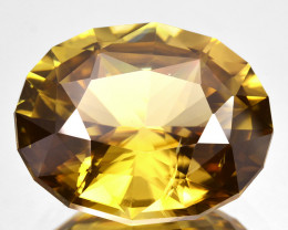 21.90 Cts Natural Unheated Zircon Sparkle Honey Yellow Oval Fancy Faceted C
