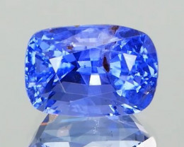 NO HEAT Peackok Blue Sapphire 3.20Ct.