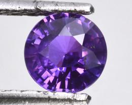 ~Lovely~ 1.34 Cts Natural Top Purple Sapphire Round Cut Sri Lanka