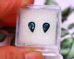 Unheated Sapphire 1.22Ct 2Pcs Natural Unheated Blue Sapphire E0209/B9