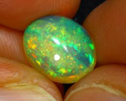 Welo Opal 3.40Ct Natural Ethiopian Cabochon Play of Color Opal E0230/A29