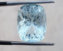 13.25 ct Natural Flower cut Aquamarine gemstone