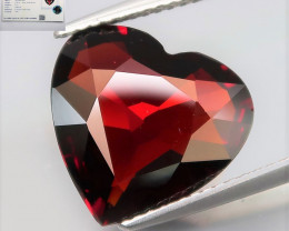 6.74  Ct.  Natural Earth Mined Red Rhodolite Garnet Africa - Certificate