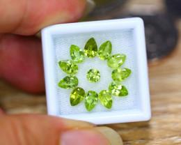 5.17ct Natural Green Peridot Pear Cut Lot B4257