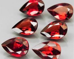 8.30 ct. Natural Earth Mined Red Rhodolite Garnet Africa - 6 Pcs
