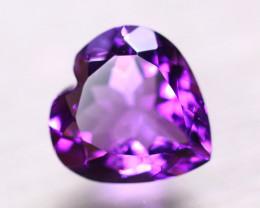 5.34ct Natural Purple Amethyst Heart Cut Lot B4263