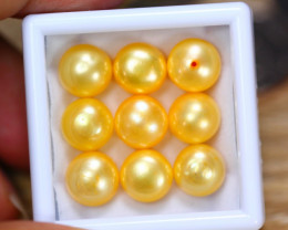 44.90Ct Natural Yellow Color Fresh Water Pearl Cultured Drill Lot B4264