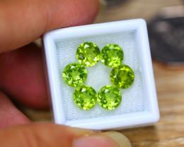 8.72ct Natural Green Peridot Round Cut Lot B4270