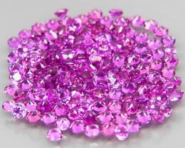 140 Pcs/3.01 Ct.Diamond Cut 1.5 mm.Ravishing! Pink Purple Rhodolite Garnet