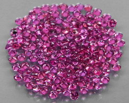 170 Pcs/3.12 Ct.Diamond Cut 1.4 mm.Ravishing! Pink Purple Rhodolite Garnet