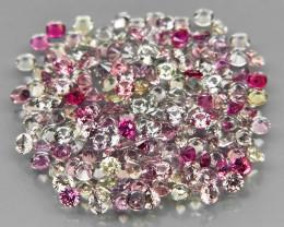 180Pcs/3.45Ct.Diamond Cut 1.5 mm.UNHEATED! Fancy Color Sapphire Songea