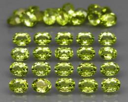 35 pcs 6.97 Ct. 4x3mm. Natural Top Rich Apple Green Peridot Pakistan