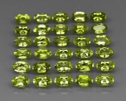 30  pcs 7.49 Ct. 5x3mm. Natural Top Rich Apple Green Peridot Pakistan