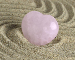 Rose Quartz 25mm Love Heart Shape 100% Natural Unheated Brazil Mine