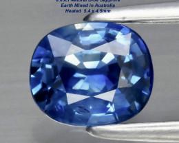 0.63ct Blue Sapphire - Australia / Heated / 5.4x4.5mm