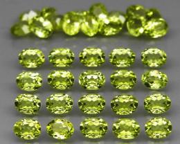 35 pcs 6.61 Ct. 4x3mm. Natural Top Rich Apple Green Peridot Pakistan