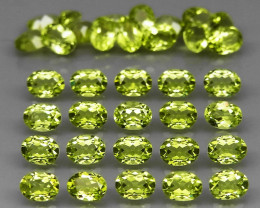 35 pcs 6.90 Ct. 4x3mm. Natural Top Rich Apple Green Peridot Pakistan