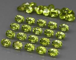 35 pcs 6.74 Ct. 4x3mm. Natural Top Rich Apple Green Peridot Pakistan