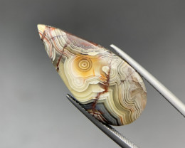 10.65 Cts Rare Mexican Crazyless Agate Cabochon. Crz-9898