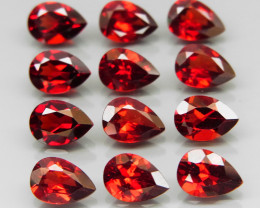 9.30 ct. Natural Hot Red Rhodolite Garnet Africa - 12 Pcs