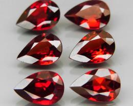 8.64  ct. Natural Earth Mined Red Rhodolite Garnet Africa - 6 Pcs