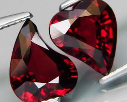 5.59 ct. Natural Earth Mined Red Rhodolite Garnet Africa - 2 Pcs