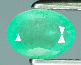 1.00 Cts Untreated Rich Green Colombian Emerald Gemstone