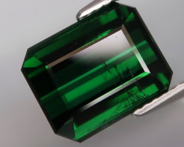 6.12Ct.Good Color Natural BIG Top Green Tourmaline Mozambique Perfect Shape