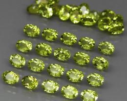 35 pcs 6.84 Ct. 4x3mm. Natural Top Rich Apple Green Peridot Pakistan