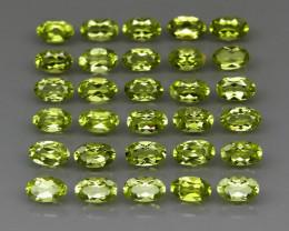 30 pcs 7.40 Ct. 5x3mm. Natural Top Rich Apple Green Peridot Pakistan