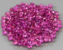 170Pcs/3.11Ct..Diamond Cut 1.4 mm.Ravishing Color Pink Purple Rhodolite Gar