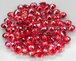 89Pcs/6.29Ct.Round 2.2 mm.Best Color! Natural Cherry Red Rhodolite Garnet