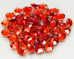 50Pcs/7.17Ct. Round 3 mm.Outstanding! Natural Red Mozambique Garnet Africa