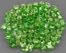100Pcs/3.80Ct.Round Diamond Cut 1.8-2mm.Best Color Apple Green Tsavorite Ga
