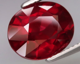 5.14  Ct. Natural Earth Mined  Cherry Red Rhodolite Garnet Africa