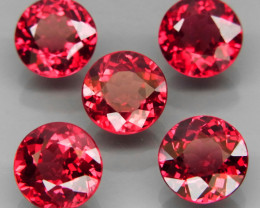 5.55 ct./ 5Pcs/ Natural Earth Mined Unheated Cherry Pink Rhodolite Garnet