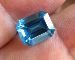4.24cts Natural Swiss Blue Topaz Emerald Cut