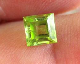 0.74cts Natural Peridot Square Shape