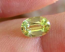 0.65cts Natural Australian Yellow Sapphire  Oval Shape